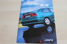 118631) Seat Cordoba SX Prospekt 07/1998
