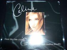 Celine Dion Treat Her Like A Lady Ultra Rare Australian Promo CD Single