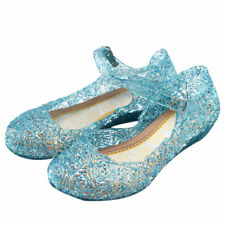 Kids Girls Princess Frozen Elsa Crystal Jelly Cosplay Sandals Party Dance Shoes