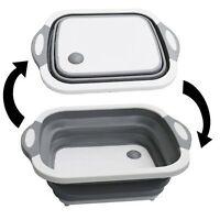 4 in1 Multi Küchen Schüssel - faltbar - Spülschüssel und Schneidebrett in einem