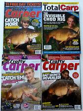 4 x Crafty Carper & Total Carp Magazines - 2009 -2010