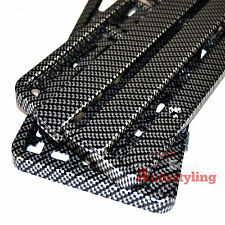 2x CARBON FIBRE HYDROGRAPHIC car number plate licence holder frame surround