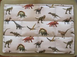 2lb Children's Weighted Lap Pad Blanket Calming Effect Dinosaurs Homecrafted New