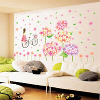 Cartoon Flower Girl Room Home Decor Removable Wall Sticker Decals Decoration*
