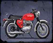 Bsa A65 Spitfire Special 01 A4 Metal Sign Motorbike Vintage Aged