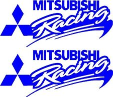 Mitsubishi Racing Stickers 2 x 275 x 115 Suitable for outdoor use.