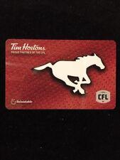 2018 CFL CALGARY STAMPEDERS TIM HORTONS DEBIT/GIFT CARD HORSE LOGO