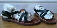 melissinos THE POET Handmade SANDALS UK4.5 green real leather strappy gladiator
