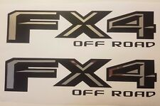 fx4 off road 2017 decal Matt black and chrome, decal stickers ford truck (SET)