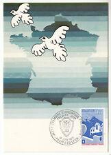 CARTE MAXIMUM FDC 1977 TIMBRE N° 1942 JEUNE CHAMBRE ECONOMIQUE FRANCAISE