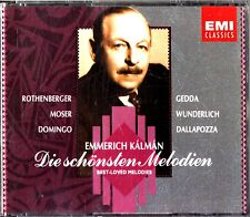 KALMAN- The Best Love Melodies 2-CD (Songs of Rothenberger/Gedda/Moser/Domingo)