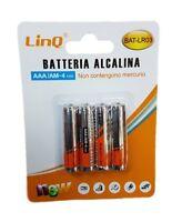 Confezione 4 Pile Batterie Alcaline Ministilo AAA Am-4 1.5V Linq Bat-lr03