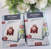 *2 Pack Value Original Miele FJM Vacuum Bags 3D AirClean 8 HEPA Bags, 4 Filters