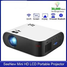 12000Lumens Portable HD LED Projector 1080P Home Theater Multi-Functional Smart