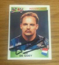 *** Panini England Euro '96 Rare Hand Signed Card - Ed De Goey - Holland ***