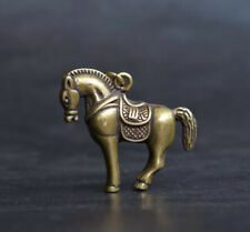 China's archaize pure brass horse small statue a477