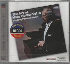 The Art of Hans Hotter, Vol. II (2) NEW CD Geoffrey Parsons