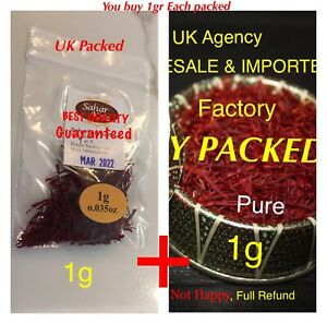 SAFFRON SPICE 2g %100 PURE, FULL REFUND IF NOT HAPPY, DIRECT FROM IMPORTER PRICE