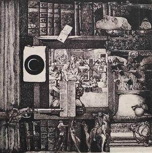IVAN RUSACHEK, Art Print, Original Hand Signed Etching, Ex Libris Bookplate,2016