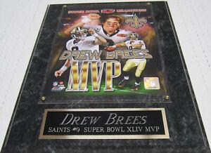 DREW BREES NEW ORLEANS SAINTS FRAMED 8X10 PHOTO-MAN CAVE ART-12X15 WALL PLAQUE