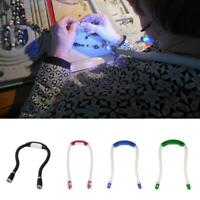 Double LED Hug Light Adjustable Head Neck Book Reading Night Lamp Torch Han P6P9