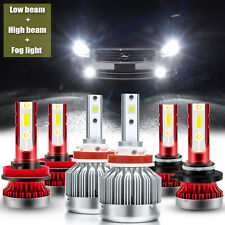LED Headlight High Low Fog Light Kit H11 9005 for Nissan Maxima Juke Titan Rogue