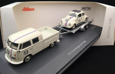 SCARCE SCHUCO VW HERBIE VAN & BEETLE TRAILER SET 1 OF 750 1:43 MINT AND BOXED