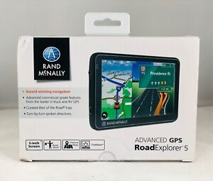 "NEW - Rand McNally Road Explorer 5 Advanced GPS w/ Lifetime Maps, 5"" Screen"