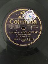 "RARE 78RPM 10"" COLUMBIA D.Q. 124 JAZZ RAMPOLDI LULA! TI VOGLIO BENE/VAGABONDA"