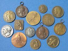 LOT DE 14 MEDAILLES ANCIENNES