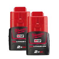 "Milwaukee M12 B2 2 Batterie 12v 2.0ah Original Milwaukee Redlink """