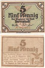 Germany 5 Pfennig 1919 Notgeld Herrnstadt UNC Uncirculated Banknote