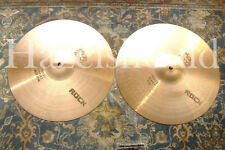 "SOUNDFILE! VINTAGE 1979 PAISTE 2002 BLACK LABEL 14"" ROCK Heavy Hihats 960 & 1050"