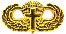 Airborne Chaplain Jump Wing Badge US Army Parachutist GOLD Cross Insignia Pin