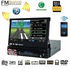"7"" Single 1 Din Car Stereo CD/DVD Player GPS Navi Bluetooth Audio Video iPod BT"