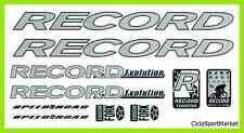 """Adesivi / Decalcomanie """" RECORD """"  Per Personalizzare la tua Bicicletta"""