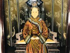 Antigua Pintura China de reserva de cristal de la Emperatriz Viuda de Cixi