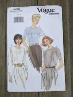 Vintage 90's Vogue Pattern 9288 Sz 6, 8, 10 Ladies Blouse Top