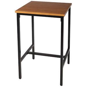 eSituro Table de Bar Table à Manger Table de Cuisine Table Haute en Bois métal