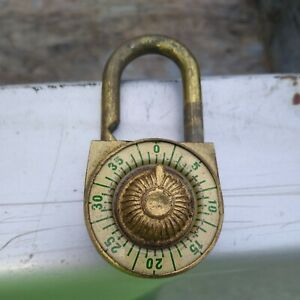 Vintage Brass  combination Lock vintage lock