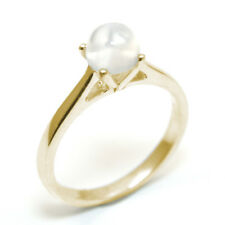 Solitaire Moonstone 9ct Gold Ring 1ct Engagement Ring