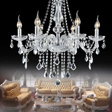 1/2x Modern K9 Crystal Chandelier Pendants 6 Light Fixture Lighting Ceiling Lamp
