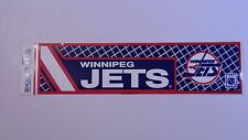 Winnipeg Jets Retro Logo Bumper Sticker