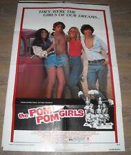 1976 The POM POM GIRLS 1 SHEET MOVIE POSTER SEXPLOITATION CHEERLEADERS PHOTO