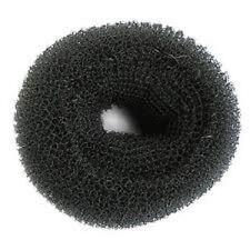 SIBEL Hair Donut Bun Ring Hairdressing Extra Large (11cm) Bun Ring - BLACK