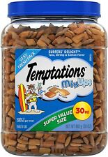 Temptations Mix Ups Crunchy and Soft Cat food Treats Tuna, Shrimp, Salmon 30 Oz