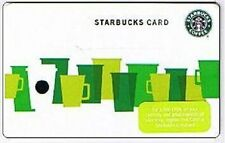 Starbucks Coffee Green Cups Mugs 2010 Gift Card Collectible