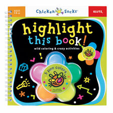 HIGHLIGHT THIS BOOK! WILD COLORING & CRAZY ACTIVITIES KIDS CHICKEN SOCKS KLUTZ