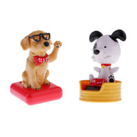 2x Solar Powered Dancing Solar Powered toy Toy Car Ornament Bobble Head Dog Toy
