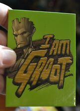 DECORATIVE 2X3 INCH GREEN I AM GROOT SAYING + IMAGE REFRIGERATOR / CAR MAGNET ~